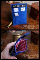 Tardis - Felt Cell Phone Case by ClockworkHeartComple