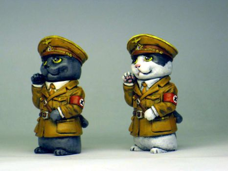 Dictator kitties painted by Switchum