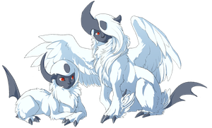 Super Hair II: Mega Absol by Mewitti