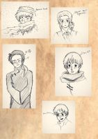 Hetalia Sketch Dump by Gleca
