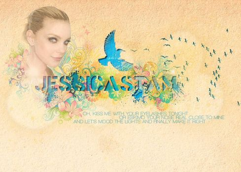 colorfull Jessica Stam by Rockpinky
