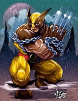 WOLVERINE UNCHAINED colors v2 by CaziTena