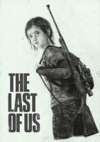 The Last Of Us- Ellie drawing#4 by zakValkyrie