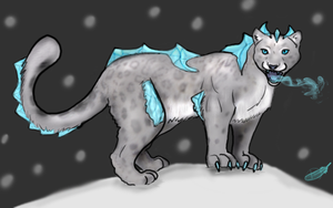 Ice snow leopard adoptable by Domisea
