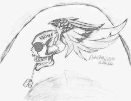 USMC Devil skull with tags by Ruby288
