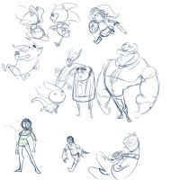 Character Sketches by hamadubai