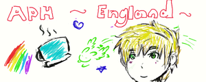 Tablet practice, england doodle by DeviousMudkipz