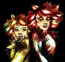 Bombalurina and Demeter by Greenticky