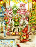 .:Fembot Christmas Fun:. by AndreAla-Rae