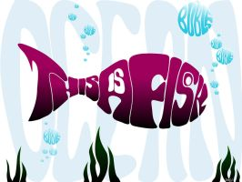 My Tipographic fish by JoHnnY8901