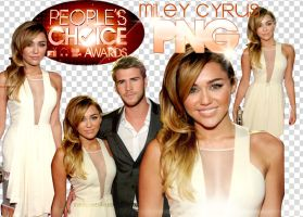 4 Miley Cyrus PNG -People's Choice Awards- by NyaAkemiChan
