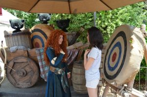 Meeting Merida part 1 by GamerGirl14