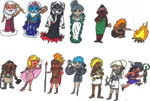 Chibi Greek Pantheon