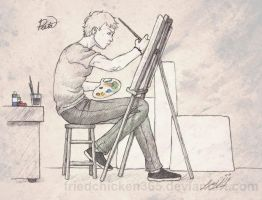 Peeta the Painter by friedChicken365