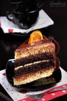 Choco-orange cake slice by kupenska