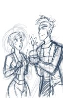 Rogue's Cupcake_Sketch by MissKeith