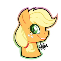 Applejack Portrait. by sofilut
