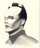 Portrait of Klaus Nomi by TrylonPerisphere