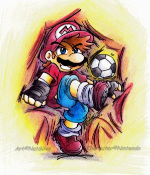 Mario: Strikers FIFA world cup by NatSilva