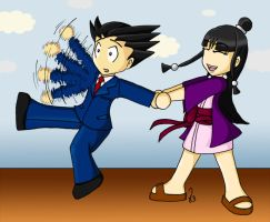 PHOENIX WRIGHT-Let's go Nick by Virchowa