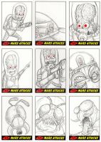 Heritage Mars Attacks! Sketch Cards - 03 by Monster-Man-08