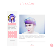 Caroline Blogger Template by tiny-moon
