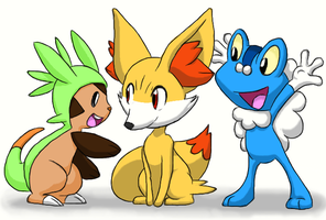 The new Pokemon trio by Claudia-Sierra