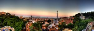 Barcelona view from Parc Guell by Iouri