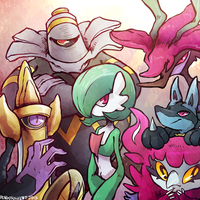 main pokemon xy team by pengosolvent
