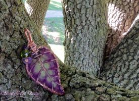 Leaf Necklace by SerenityWireDesigns