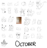 October Daily Doodles by Peeka13