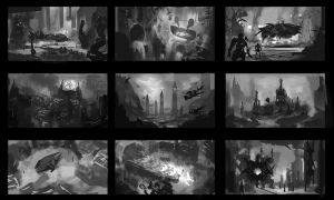Alien World Thumbnails by CGlas