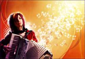 Girl with accordion by Ds4