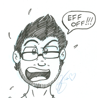 Eff Off!-MARKIPLIER- INKED SKETCH by donnatron