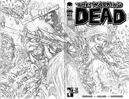 WALKING DEAD #100 SKETCH COVER PENCILS by stalk