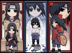 NARUTO - Uchiha bookmark set by Jennaris