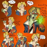 The Many Faces of Guybrush by Tempest-Lavalle