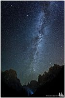 Peaks under the Milky Way by e-edo
