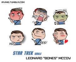 Star Trek Bones Smiles by IrvinIS