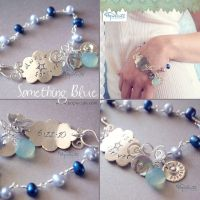 Something Blue Wedding Bracelet by popnicute