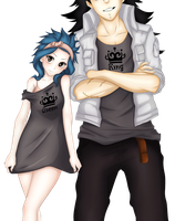 Fairy Tail - King And Queen (Coloring) by painmiz