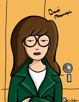 Daria Leaning on Lockers by AVChick