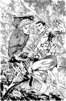 Namor vs Aquaman by gammaknight