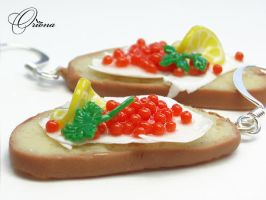 Sandwiches With Caviar 3 by OrionaJewelry