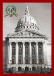 Wisconsin Capitol Christmas Card with Monogram by clickapril