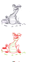 Bored Dragon Step By Step by qwertypictures