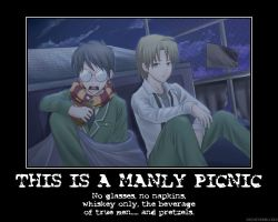 This is a manly picnic by Ragnarok1991388