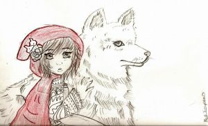 red riding hood ... with a ... by Sharpie-luver12