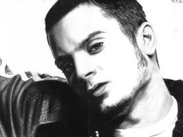 Charcoal drawing of Elijah Wood by Valyanna8361