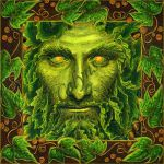 Lord of the Greenwood Oak King with Border by CelynsCorner